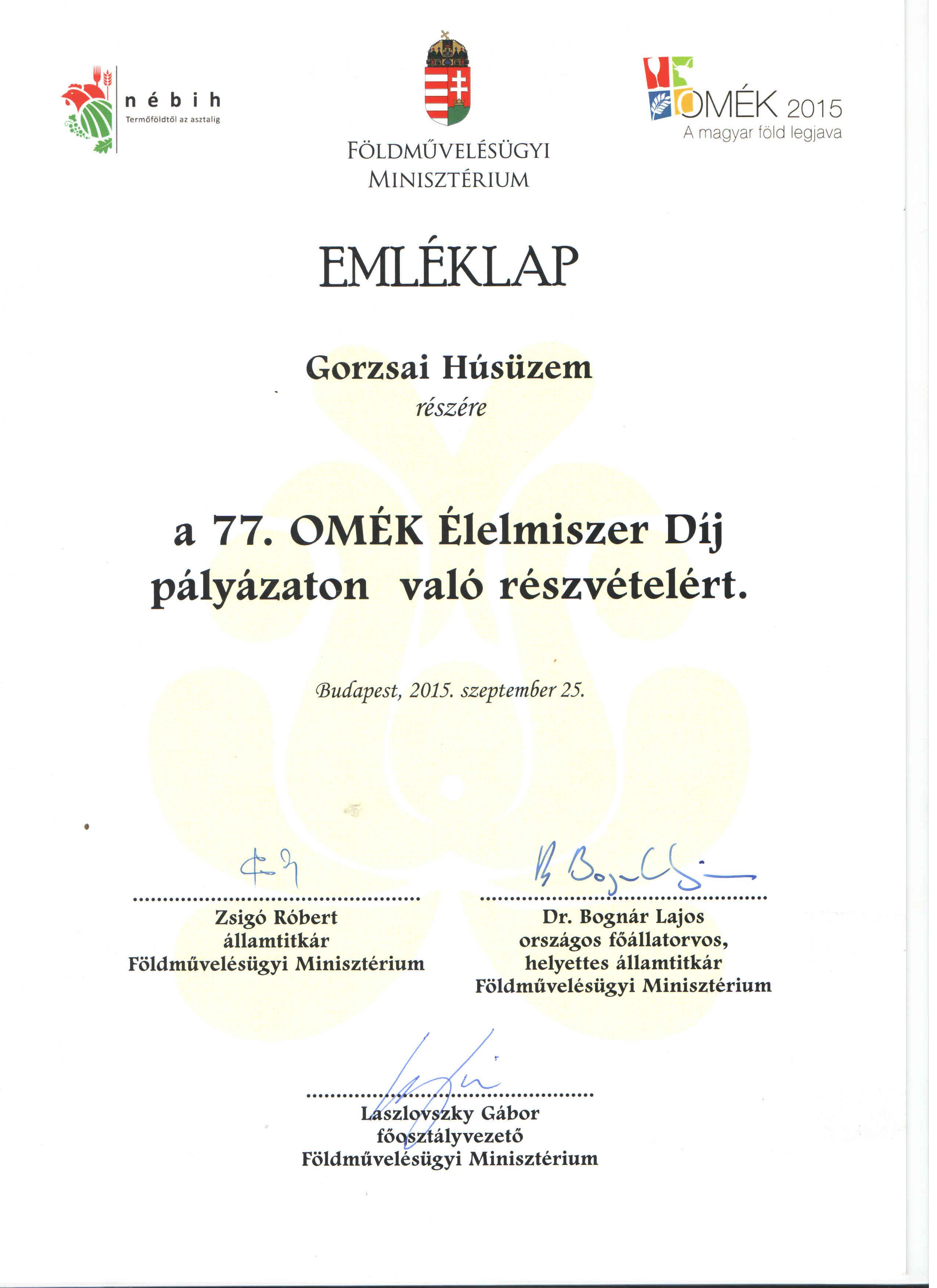 77. OMÉK Emléklap1